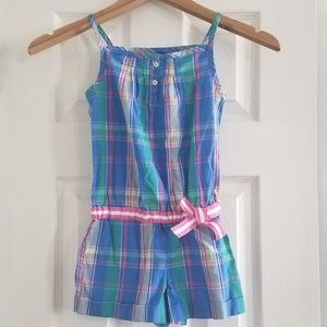 Plaid Nautica romper